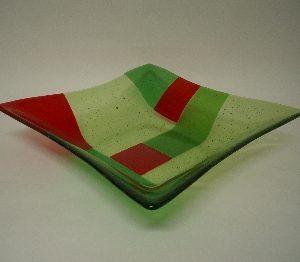 transparant, groen en rood glas