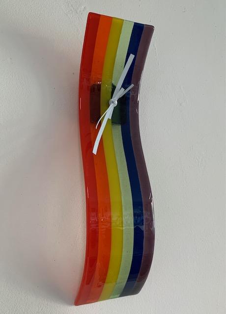 regenboog klok hanger