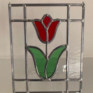 tulp in glas-in-lood