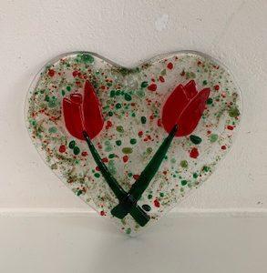 glazen valentijn hart
